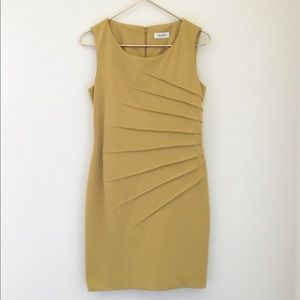 Calvin Klein sheath dress yellow no size see desc